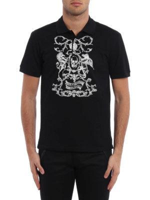 Alexander Mcqueen: polo shirts online - Embroidered pique polo