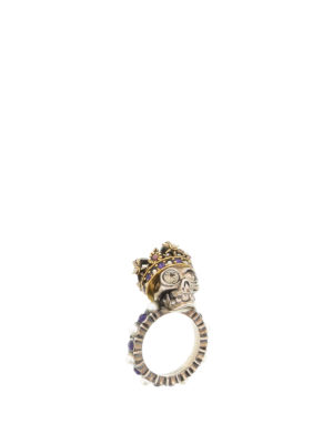 Alexander Mcqueen: Rings - King Skull brass ring