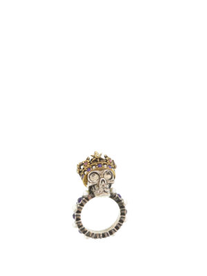 Alexander Mcqueen: Rings online - King Skull brass ring