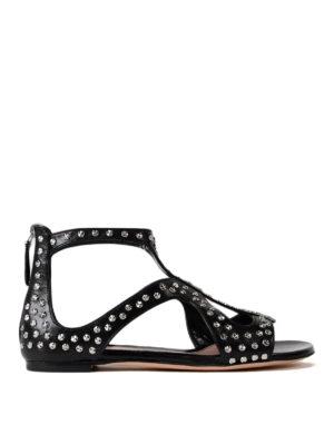 Alexander Mcqueen: sandals - Cage design studded flat sandals