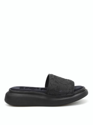 Alexander Mcqueen: sandals - Maxi sole rubber sandals