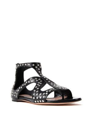 Alexander Mcqueen: sandals online - Cage design studded flat sandals