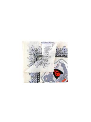 Alexander Mcqueen: scarves - Britannia print cotton foulard