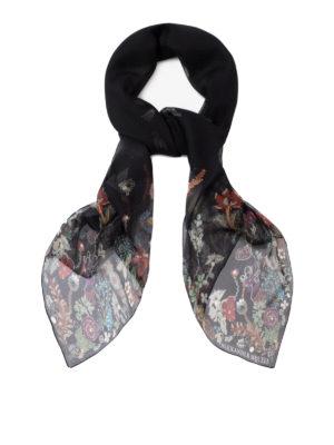 ALEXANDER MCQUEEN: sciarpe e foulard - Sciarpa Jewelled Garden in seta