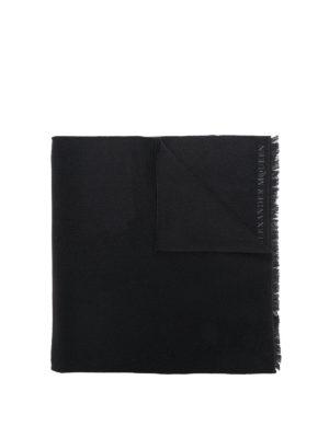 ALEXANDER MCQUEEN: sciarpe e foulard - Sciarpa Moonlight in lana nera