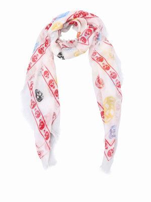Alexander Mcqueen: scarves - Multicolour Skull print  scarf