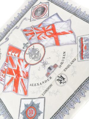 Alexander Mcqueen: scarves online - Britannia print cotton foulard