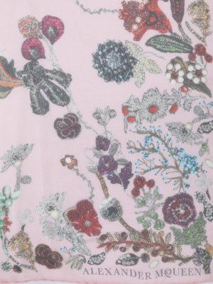 Alexander Mcqueen: scarves online - Floral silk chiffon scarf