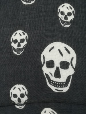Alexander Mcqueen: scarves online - Modal and silk skull print scarf