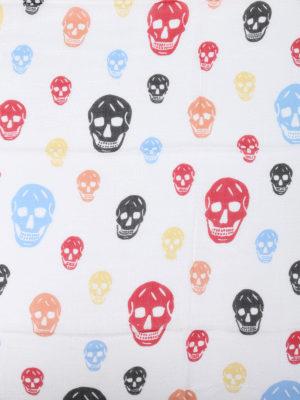 Alexander Mcqueen: scarves online - Multicolour Skull print  scarf