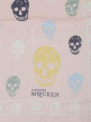 Alexander Mcqueen: scarves online - Multicolour skull print foulard