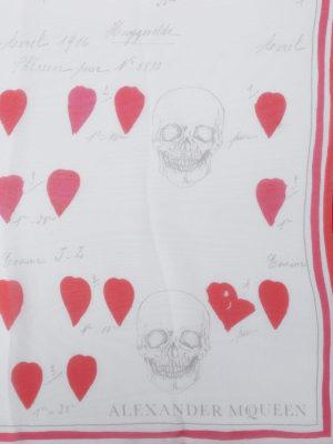 Alexander Mcqueen: scarves online - Petals patterned silk scarf