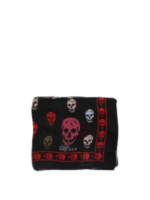 Alexander Mcqueen: scarves online - Printed silk scarf