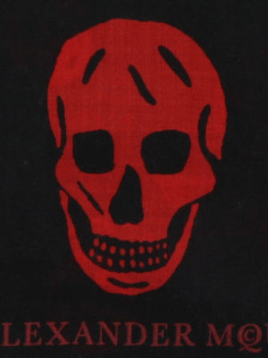 Alexander Mcqueen: scarves online - Red Punk Skull scarf