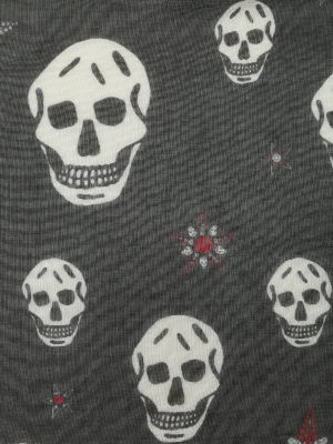 Alexander Mcqueen: scarves online - Silk and modal skull print scarf