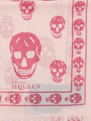Alexander Mcqueen: scarves online - Silk blend Skull print scarf