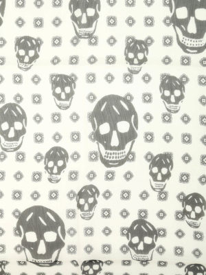 Alexander Mcqueen: scarves online - Silk skull foulard