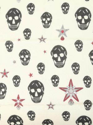 Alexander Mcqueen: scarves online - Skull and star print foulard