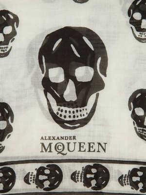 Alexander Mcqueen: scarves online - Skull fringed  foulard