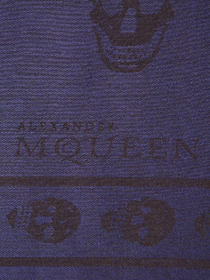 Alexander Mcqueen: scarves online - Skull patterned jacquard scarf