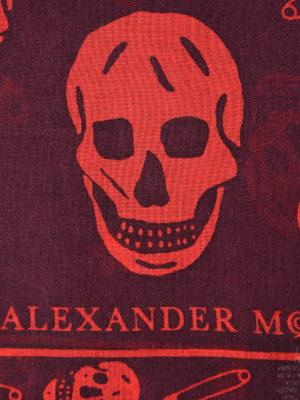 Alexander Mcqueen: scarves online - Skull patterned silk blend scarf