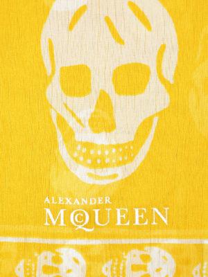 Alexander Mcqueen: scarves online - Skull print silk foulard