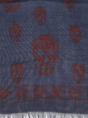 Alexander Mcqueen: scarves online - Skull silk blend scarf