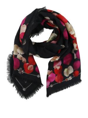 ALEXANDER MCQUEEN: sciarpe e foulard - Sciarpa con stampa Petal