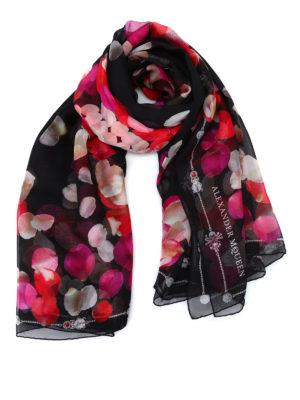 Alexander Mcqueen: scarves - Petal Skull silk chiffon scarf