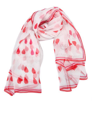 Alexander Mcqueen: scarves - Petals patterned silk scarf