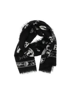 Alexander Mcqueen: scarves - Punk Skull scarf