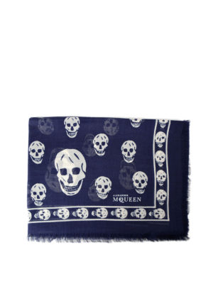 Alexander Mcqueen: scarves - Signature Skull silk blend scarf