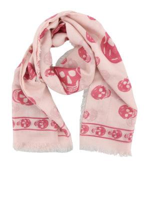 Alexander Mcqueen: scarves - Silk blend Skull print scarf