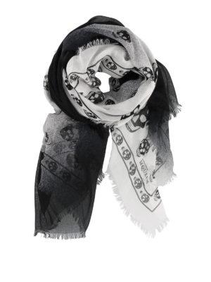 ALEXANDER MCQUEEN: sciarpe e foulard - Sciarpa Skull degradé