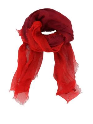ALEXANDER MCQUEEN: sciarpe e foulard - Sciarpa Skull in misto cashmere degradé