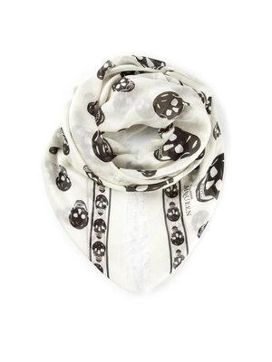 Alexander Mcqueen: scarves - Skull fringed  foulard