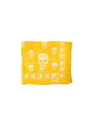 Alexander Mcqueen: scarves - Skull print silk foulard