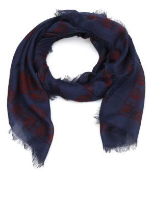 Alexander Mcqueen: scarves - Skull silk blend scarf