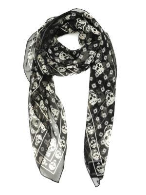 Alexander Mcqueen: scarves - Skull silk foulard