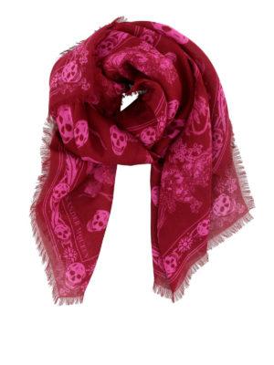 ALEXANDER MCQUEEN: sciarpe e foulard - Foulard Skull in misto lana
