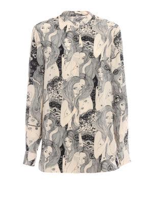 ALEXANDER MCQUEEN: camicie - Camicia in seta con stampa Eve
