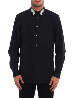 Alexander Mcqueen: shirts online - Peacock feather embroidery shirt