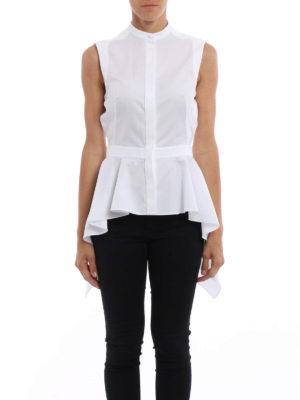 Alexander Mcqueen: shirts online - Peplum sleeveless poplin shirt