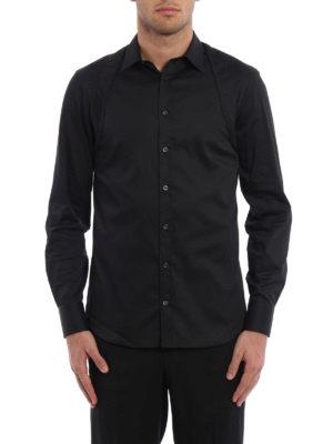Alexander Mcqueen: shirts online - Quilted harness cotton shirt