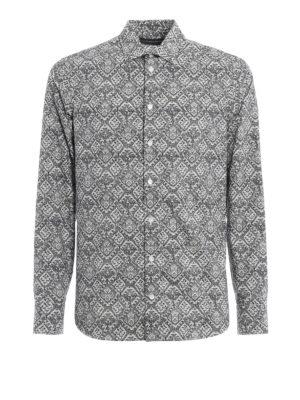Alexander Mcqueen: shirts - Patterned cotton shirt