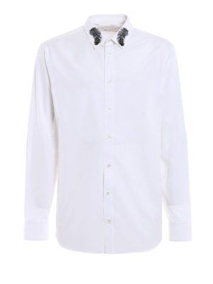 Alexander Mcqueen: shirts - Peacock feather embroidery shirt