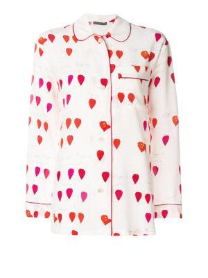 ALEXANDER MCQUEEN: camicie - Camicia in seta con stampa petali