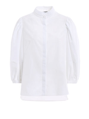 Alexander Mcqueen: shirts - Puff sleeves ruched shirt