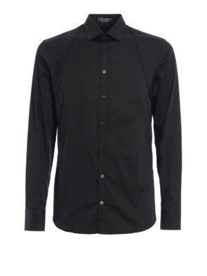 Alexander Mcqueen: shirts - Quilted harness cotton shirt