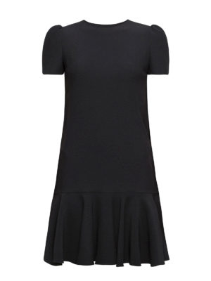 Alexander Mcqueen: short dresses - Cape-back flounced crepe dress